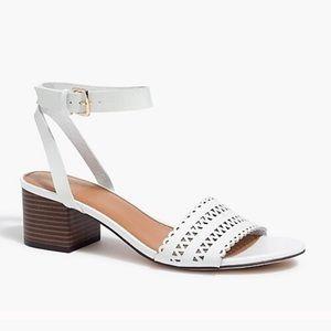 NWOB J J Crew Block Heel Laser cut Sandals 8.5